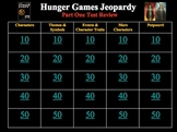 Hunger Games Trilogy Trivia Review Games - 10 Rounds