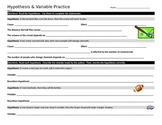 Hypothesis and Variable Relationships