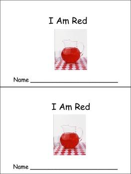 I Am Red Emergent Reader- Preschool or Kindergarten- Color Red