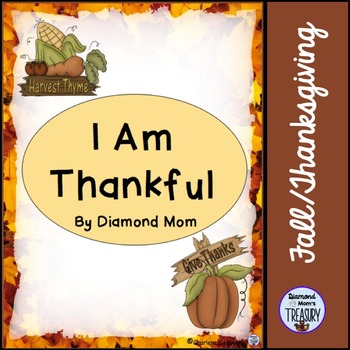 I Am Thankful poem template