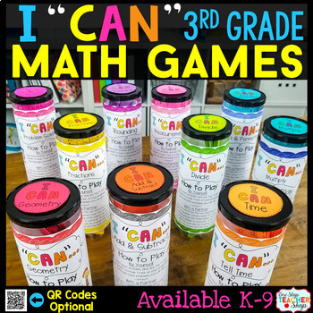 """""""I CAN"""" 3rd Grade Math Game BUNDLE } ENTIRE Year!!! {ALL Standards}"""