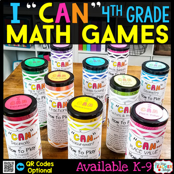 """I CAN"" 4th Grade Math Games BUNDLE } ENTIRE Year!!! {ALL Standards}"