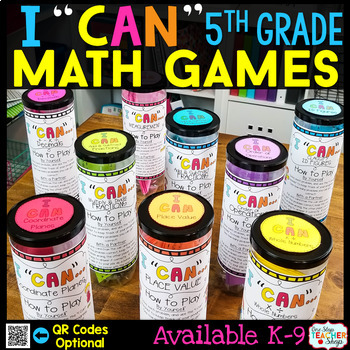 """""""I CAN"""" 5th Grade Math Games BUNDLE } ENTIRE Year!!! {ALL Standards}"""