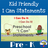 """I Can Do It! Preschool """"I Can"""" Statements"""