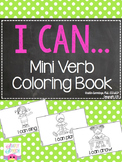 I Can! FREE Mini Verb Coloring Book