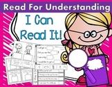 I Can Read Sentences for Understanding! Kindergarten Readi