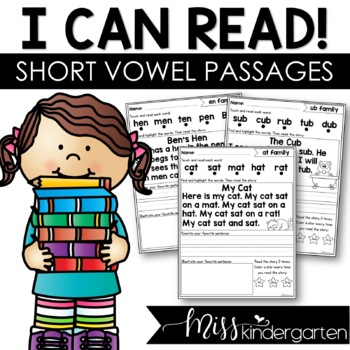 I Can Read! {short vowel intervention & fluency passages}