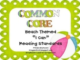 """""""I Can"""" Reading Standards for the First Grade CCSS- Beach"""
