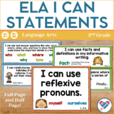 I Can Statements for English Language Arts! 2nd grade ALL