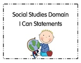 I Can Statements for Pre-School Social Studies Domain Ohio
