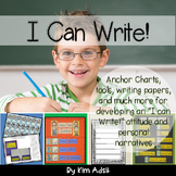 Writer's Workshop: Units 1-3 I Can Write by Kim Adsit alig
