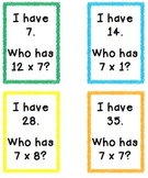 I Have Who Has 7s Multiplication