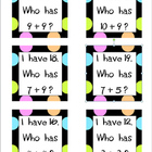 I Have, Who Has Addition Facts -CCSS Aligned