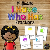 I Have Who Has FRACTIONS Fourths, Thirds, Halves FIRST GRADE