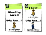 """""""I Have, Who Has?"""" Game (Community Helpers, Jobs, Occupations)"""
