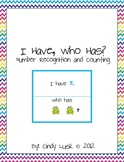 I Have, Who Has? Number Recognition-K