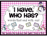 I Have Who Has {Words That End With NG} Game
