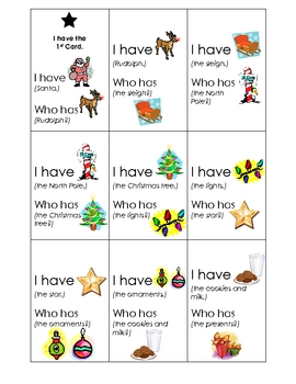 I Have.Who Has?  December Holidays