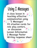 I Messages - a lesson on problem solving with situation ca