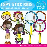 I Spy Stick Kids - Clipart for Teaching