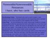 I have, Who Has - Renewable and Nonrenewable Resources flashcards