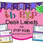IB PYP Kids Desk Labels