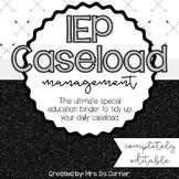 IEP Caseload Management {Black + White} - Ultimate IEP Spe