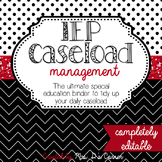 IEP Caseload Management Red White & Black - Ultimate IEP S