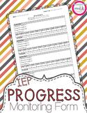 IEP Goals Progress Monitoring Form