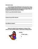 IEP Input Parent Letter