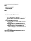 IGCSE Business - Accounting activity