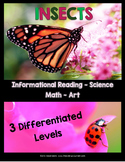 INSECTS - Differentiated Reading, Writing, & More!