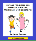INSTANT PRE-K MATH AND LITERACY ACTIVITIES, PRINTABLES, WO
