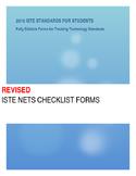 ISTE NETS Checklist Forms: Grades K - 12