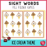 Ice Cream Bliss! Dolch Word File Folder Kit!
