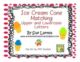 Ice Cream Cone Matching Upper and Lowercase Letters