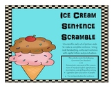 Ice Cream Sentence Scramble