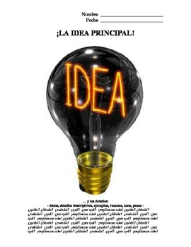 Idea Principal y Detalles - Main Idea & Details - Spanish