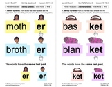 Identify Syllables 2: Lesson 10, Book 7 (Newitt Prereading