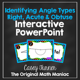 Identifying Angles: Right, Acute & Obtuse Interactive PowerPoint