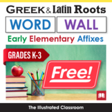 Illustrated Word Wall Cards of Prefixes and Suffixes for K-3