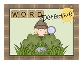 I'm a Word Detective {Slide Show}