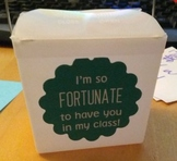 """I'm so FORTUNATE to have you in my class!"" Labels for For"