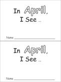 In April Emergent Reader Preschool Kindergarten Months of