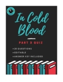 In Cold Blood Part 3 Quiz