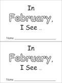 In February Emergent Reader Preschool Kindergarten Months