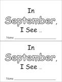 In September Emergent Reader Preschool Kindergarten Months