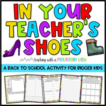 In Your Teacher's Shoes: A Back to School Activity for Bigger Kids