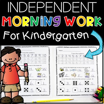 Independent Kindergarten Morning Work