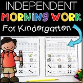 Morning Work Kindergarten (Independent) Set 1